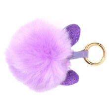 Purple Pom Pom with Strap By Bead Landing