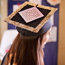 Glitter Graduation Cap, medium
