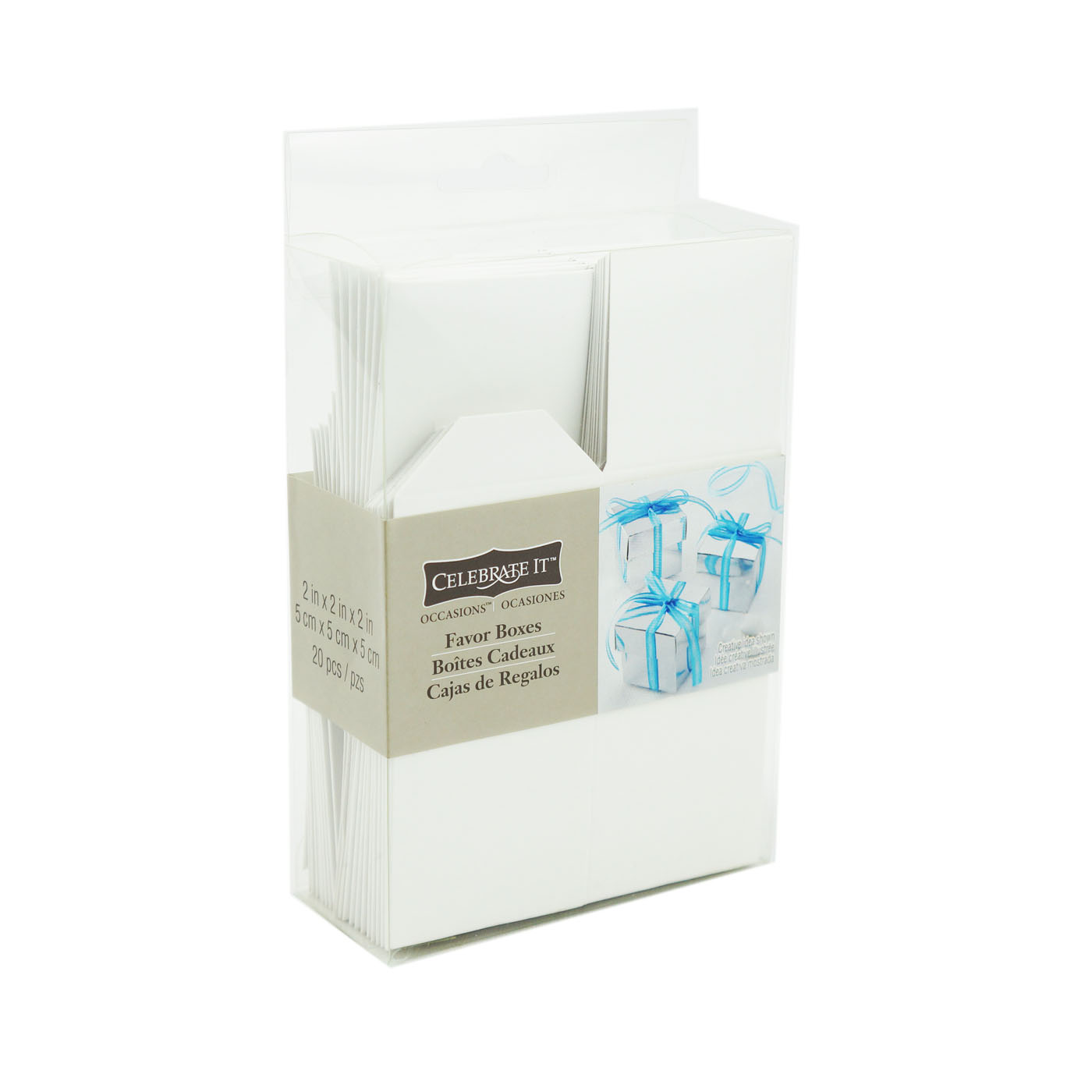 Celebrate It Occasions Favor Boxes With Lids Instructions : Celebrate it occasions favor boxes white