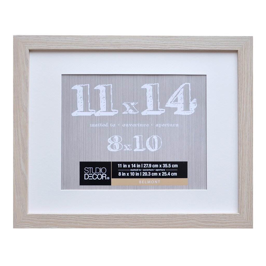 Shop for the Blonde Belmont Frame With Mat By Studio Décor® at Michaels