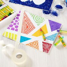 Kids Club® Geometric Canvas Reveal, medium