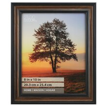 "Brown & Black Thin Home Frame By Studio Décor, 8"" x 10"""