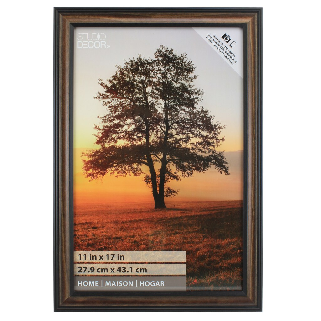 Find the brown black thin home frame by studio dcor at michaels brown black thin home frame by studio dcor 11 x 17 jeuxipadfo Images