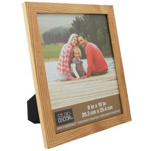 """Natural Simply Essentials Flat Top Frame By Studio Decor, 8"""" x 10"""""""