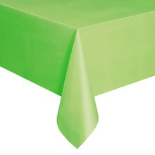 "108"" x 54"" Plastic Lime Green Tablecloths, 2ct"