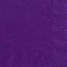 Dark Purple Beverage Napkins, 20ct