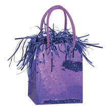 Gift Bag Shaped Dark Purple Balloon Weight