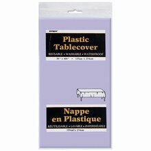 "Plastic Lavender Tablecloth, 108"" x 54"" Package"