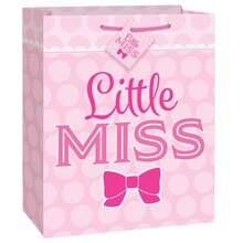 Pink Bow Little Girl Gift Bag