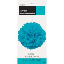 "Teal Tissue Paper Pom Pom, 16"" Packaged"