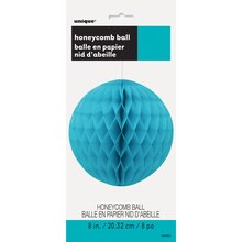 "Teal Tissue Paper Honeycomb Ball, 8"" Packaged"