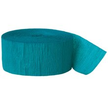Crepe Paper Teal Green Party Streamers, 81 Ft.