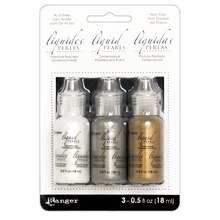 Liquid Pearls Dimensional Pearlescent Paint Kit, Soft Metallics