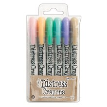 Tim Holtz Distress Crayons, Set #5 Pastel
