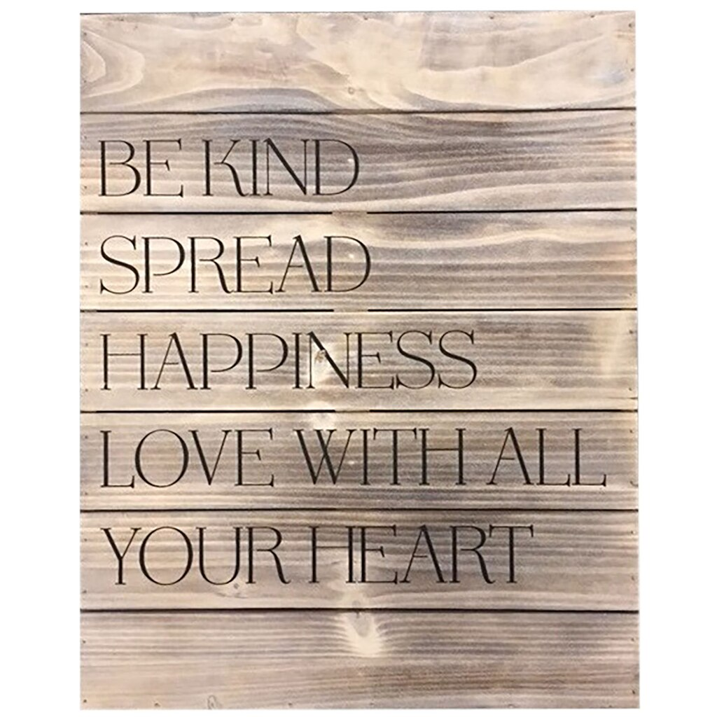 """Shop For The """"Spread Happiness"""" Wooden Décor Sign"""