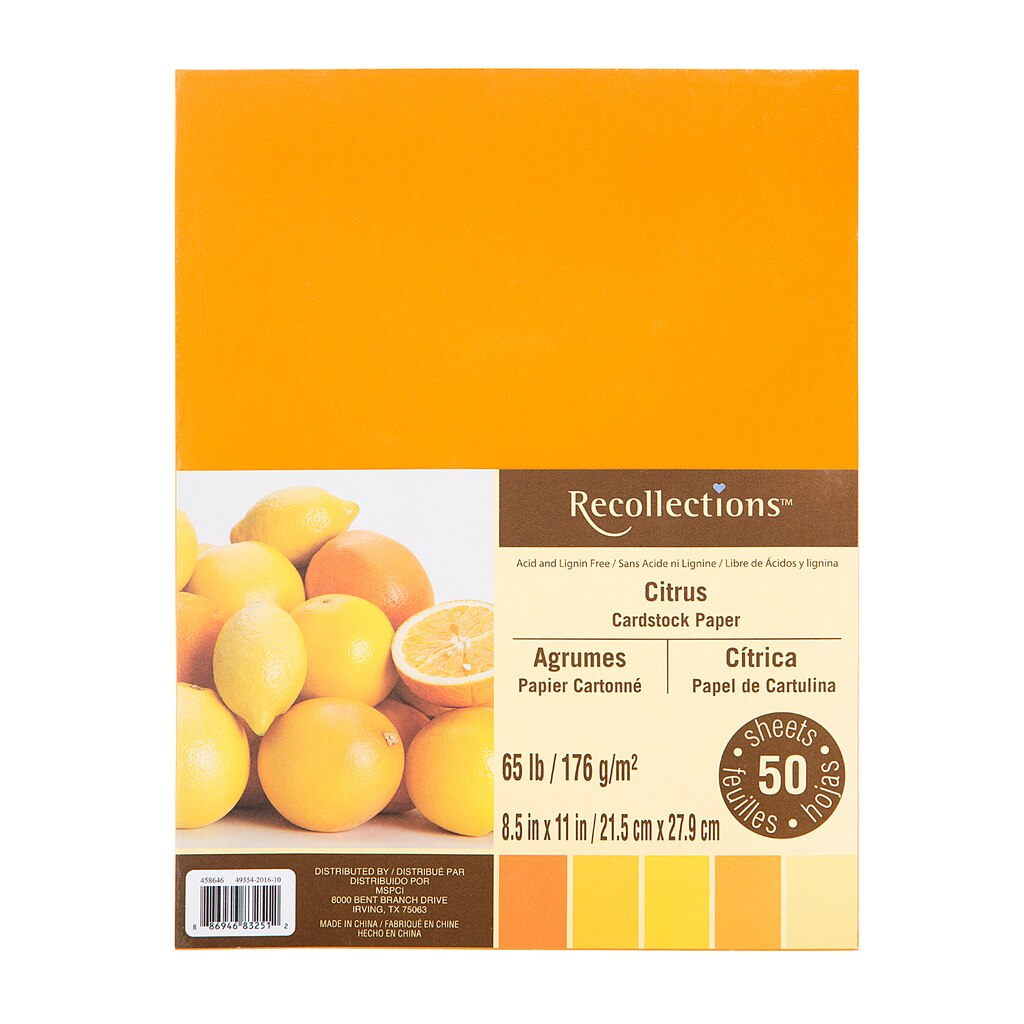 Flesh colored cardstock - Citrus Cardstock Paper By Recollections