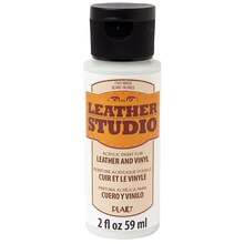 Plaid Leather Studio Leather & Vinyl Paint, White