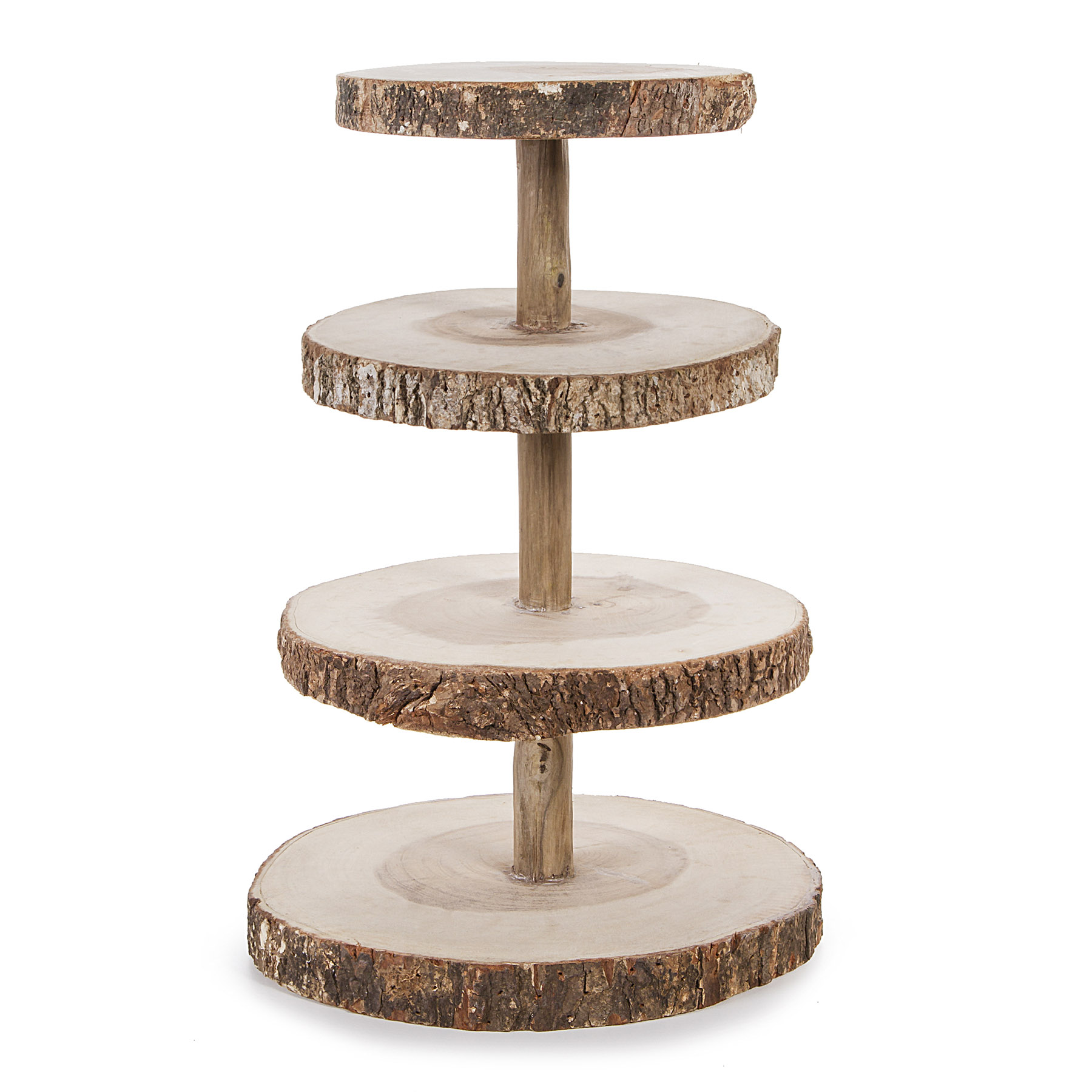 Wooden Tiered Stand ~ David tutera™ tier rustic wood slice cupcake stand
