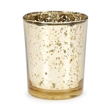 David Tutera Gold Spotted Plating Glass Votive Cup