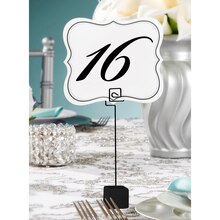 David Tutera Table Number Holder With Cube Base, Black