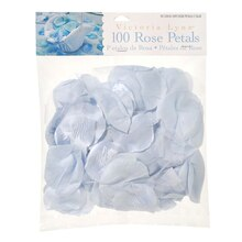 Victoria Lynn 100 Loose Satin Rose Petals, Light Blue
