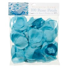 Victoria Lynn 100 Loose Satin Rose Petals, Teal
