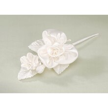 Victoria Lynn Large Satin Flower, Ivory