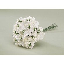 Victoria Lynn Forget Me Not Flower Cluster with Pearl Centers, Cream
