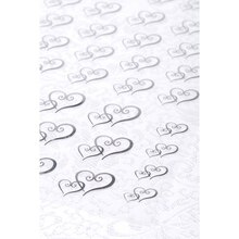 Victoria Lynn Double Hearts Transparent Stickers, Silver