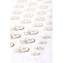 Victoria Lynn Double Hearts Transparent Stickers, Gold