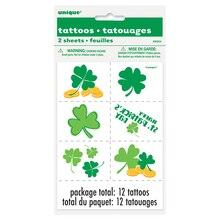 St. Patrick's Day Shamrock Tattoos, 12ct