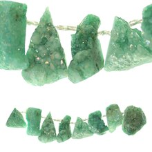 Mint Druzy Agate Chunks By Bead Landing Close Up