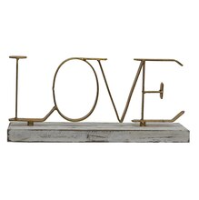 Love Tabletop Sign By Studio Décor Front