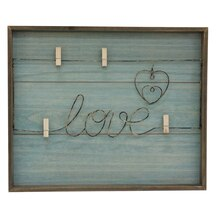 Savannah Turquoise Love Board By Studio Décor Front
