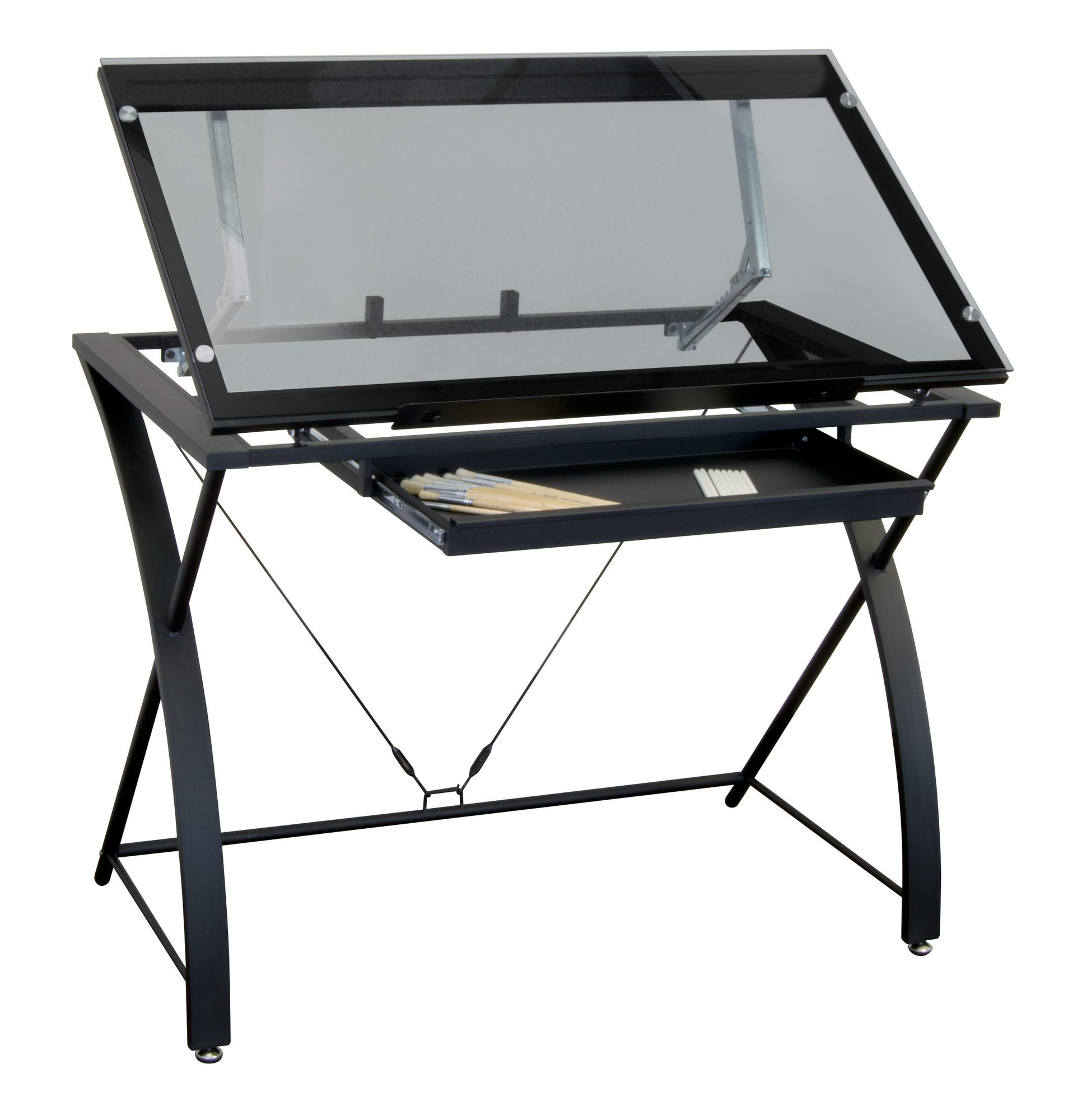 Contemporary Glass Top Drafting Table by Artists Loft 405 x 235