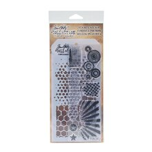 Tim Holtz Stampers Anonymous Stamps & Stencil Set, Retro Pattern