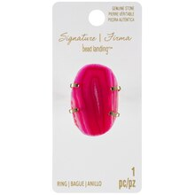Signature Color Shop Gold & Pink Agate Ring By Bead Landing