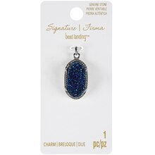 Signature Color Shop Blue Druzy & Silver Charm By Bead Landing