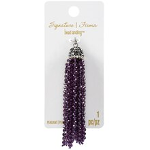 Signature Color Shop Purple Beaded Tassel Pendant By Bead Landing