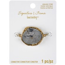 Signature Color Shop Gray Druzy Geode Connector By Bead Landing