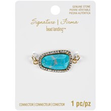 Signature Color Shop Turquoise & Gold Connector By Bead Landing