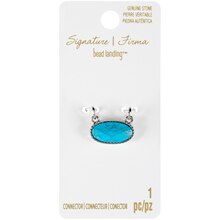 Signature Color Shop Turquoise & Silver Connector By Bead Landing