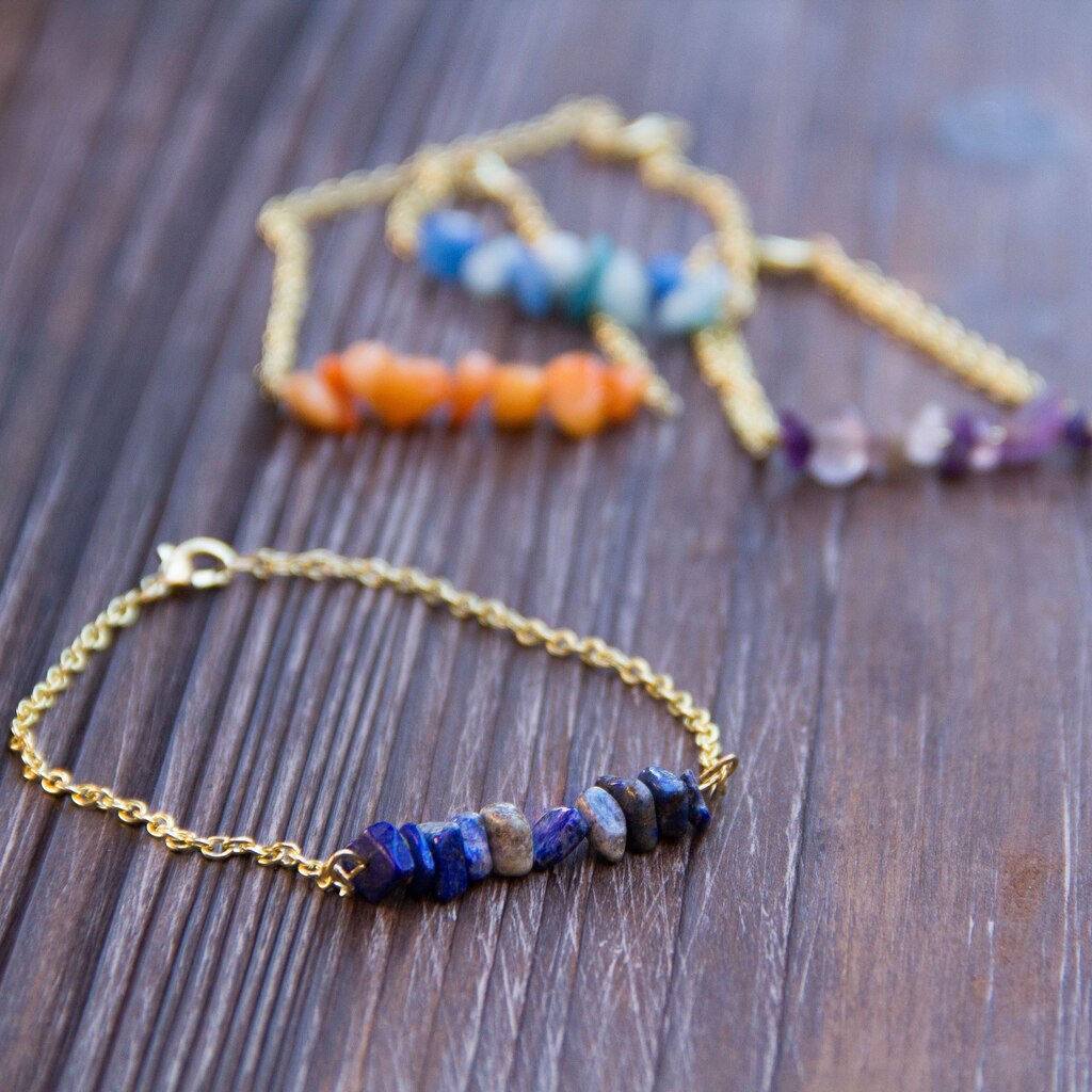 Diy stone chip bead bracelet for Michaels crafts jewelry supplies