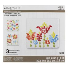 Made With Love Square Blooms Stepping Stone Kit By Celebrate It