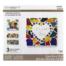 Made With Love Square Garden Stepping Stone Kit By Celebrate It