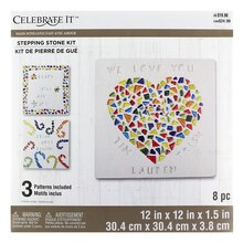 Made With Love Square Stepping Stone Kit By Celebrate It