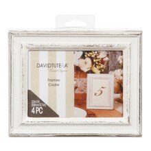 David Tutera Whitewash Wedding Table Picture Frame Set