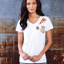 V-Neck T-Shirt with Appliqués, medium