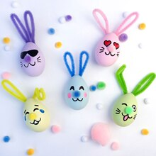 Bunny Emoji Easter Eggs, medium