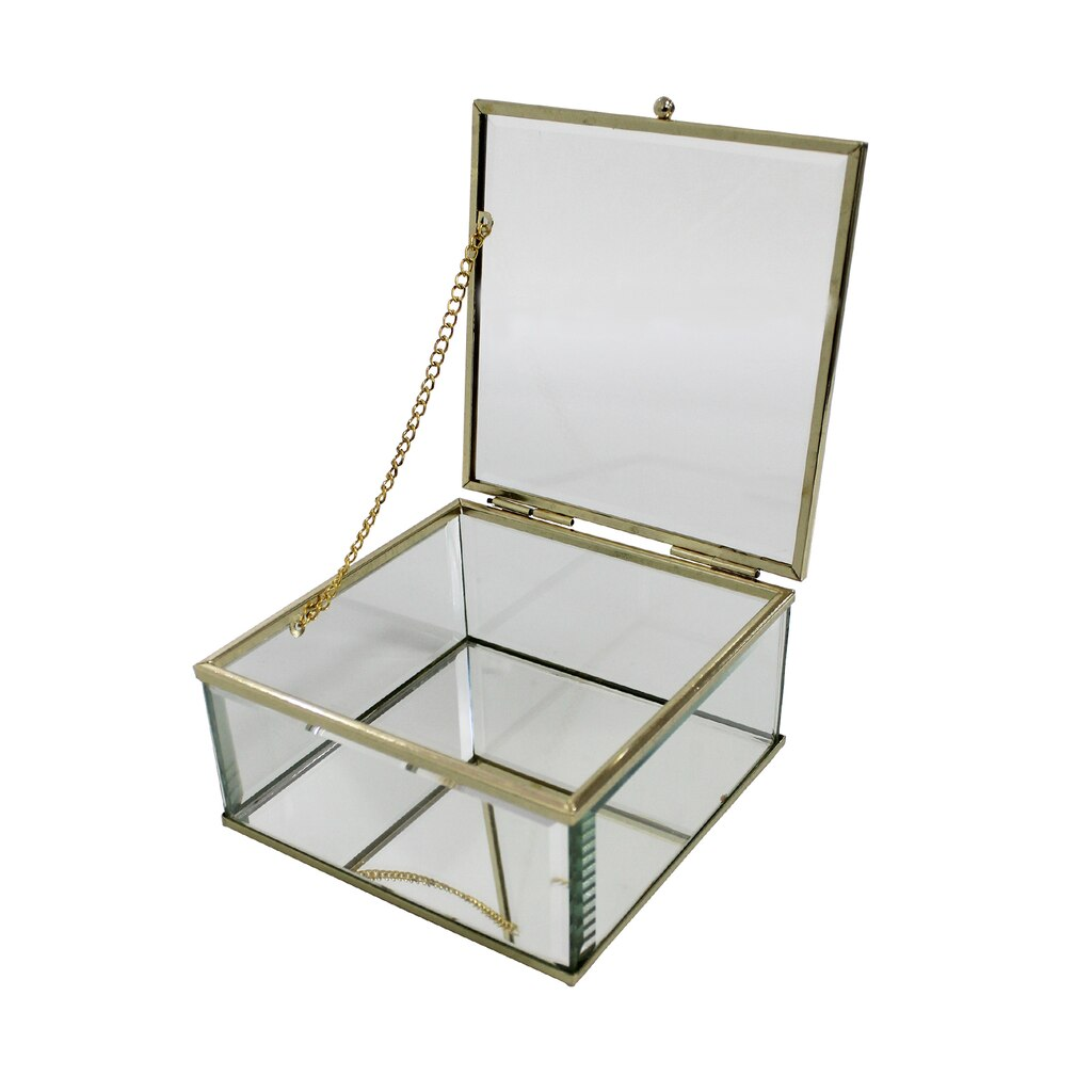 Buy The Clear Glass Display Box With Lid By Bead Landing